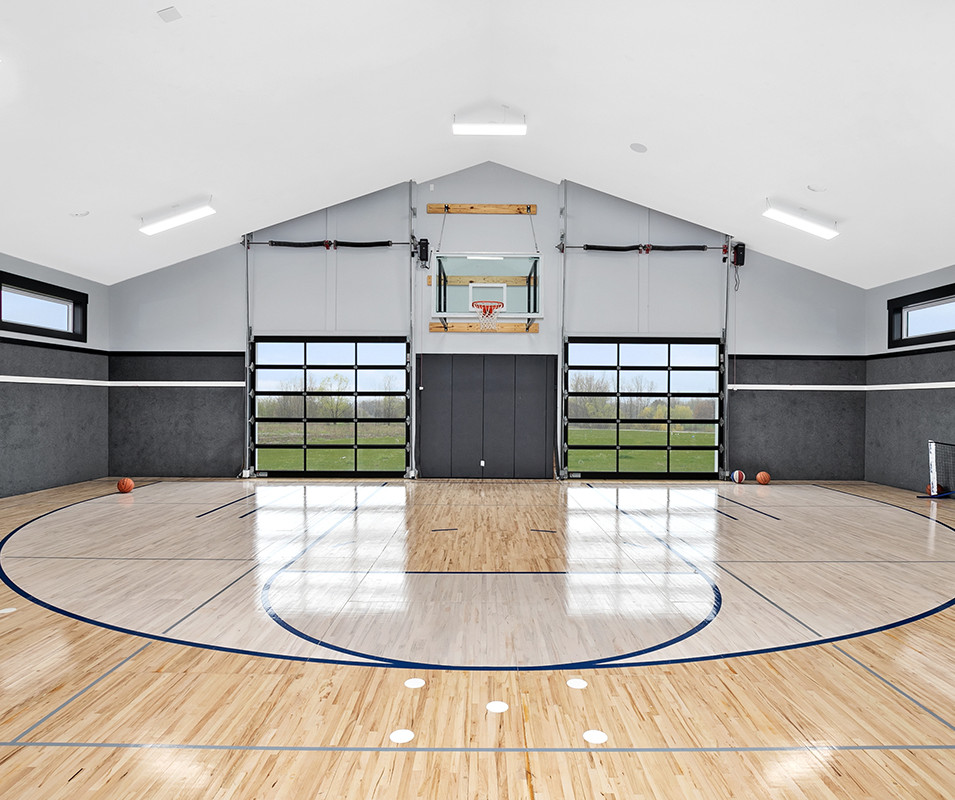 Jamestown Modern Farmhouse Basketball Court