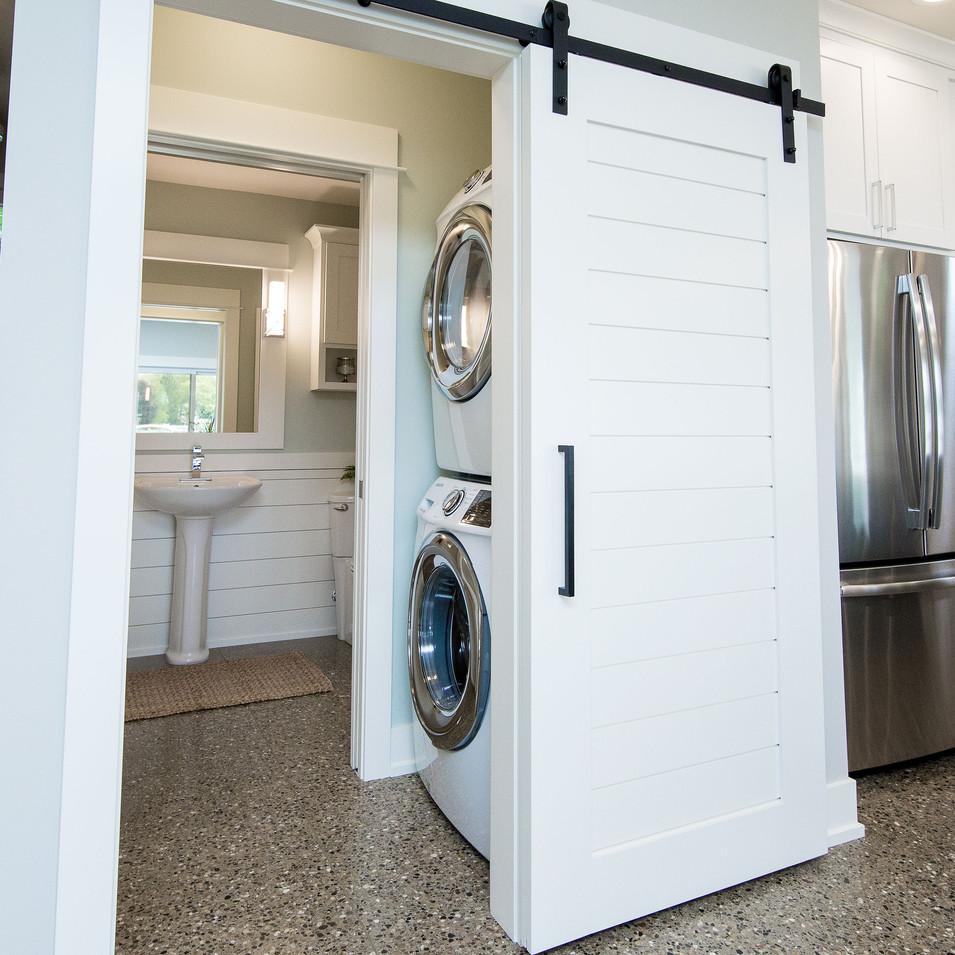Half Bath & Laundry Nook