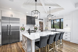 White Kitchen with quartz counterops