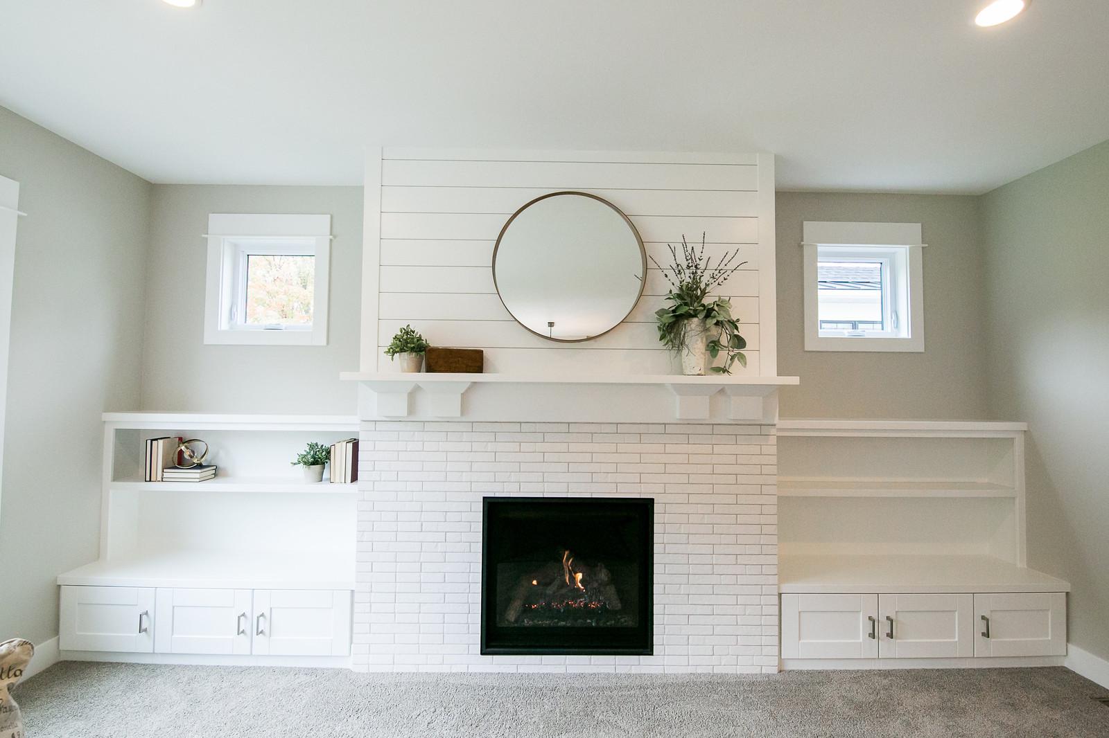 Fireplace Modern Farmhouse | DK Homes | Custom Home Builder | Byron ...