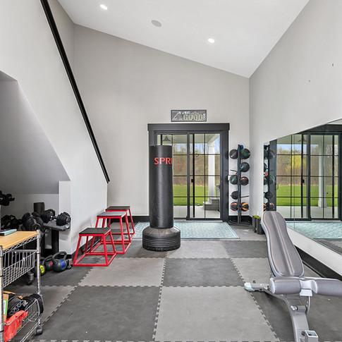 Jamestown Modern Farmhouse Workout Gym