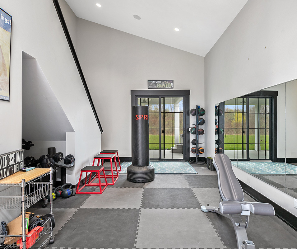 Jamestown Modern Farmhouse Workout Gym
