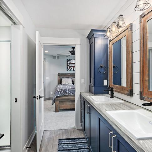 Jamestown Modern Farmhouse Boy's Bathroom