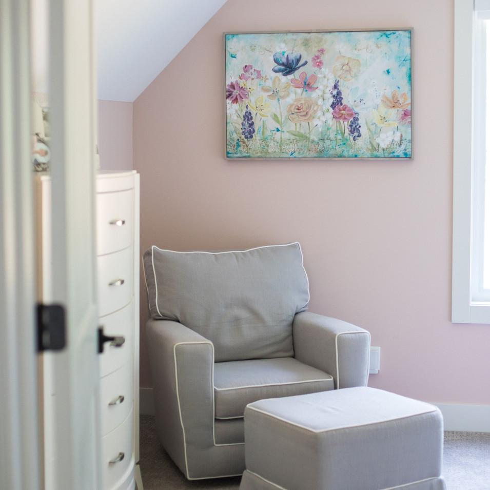 Girl's Bedroom Reading Corner