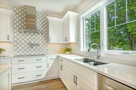 Kitchen with Stainless Modern Hood