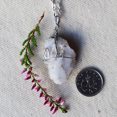 Snow Quartz Necklace-Broken Symmetry