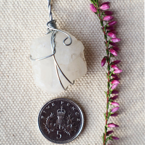 Snow Quartz Necklace-Bright White