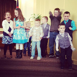 Little bunnies take over the service for Easter.