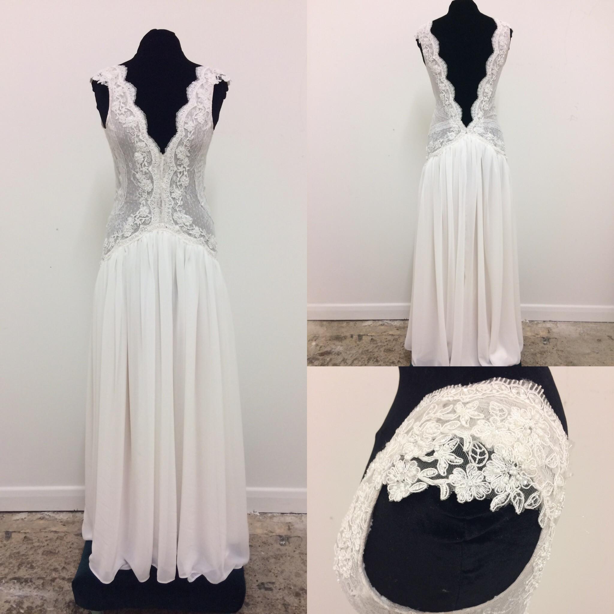 Stunning Boho Wedding Dress Delicate Layered Lace With Beautiful