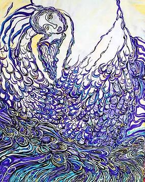 Angel painting by Barbara Kaufman