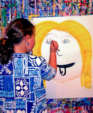 Girl painting face