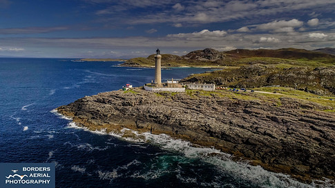 Drone shot of Ardnamurchan Lighthouse