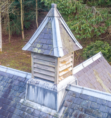 Drone roof inspection, Scottish Borders