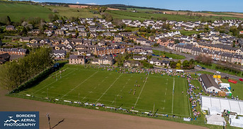 Drone shot of Earlston Rugby Sevens 2018