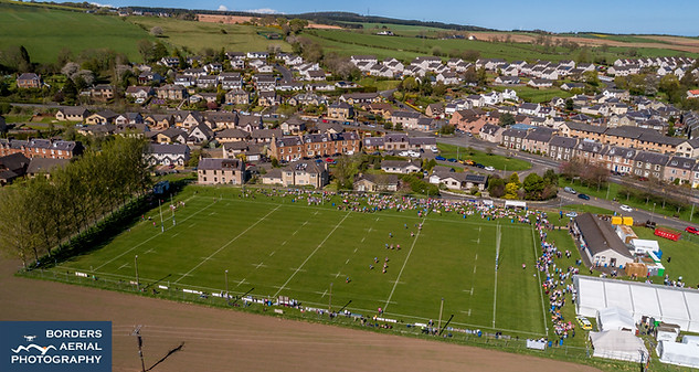 Earlston Rugby Sevens aerial shot