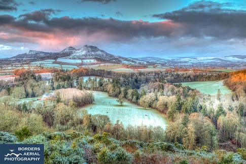 First light at Scott's View, Scottish Borders