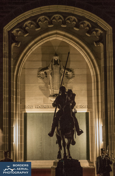 Angel wings, Galashiels War Memorial, Scottishs Borders