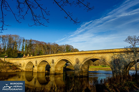 Coldstream Bridge, Border between Scotland and England