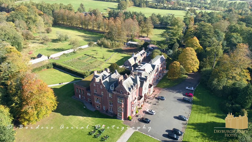 Promotional aerial footage of Dryburgh Abbey and Dryburgh Abbey Hotel, Scottish Borders
