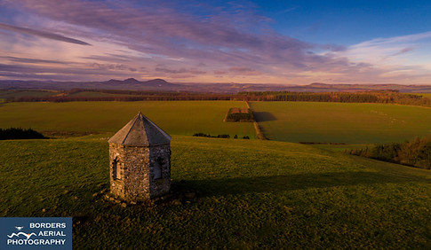 Barons Folly drone shot, Ancrum, Scottish Borders