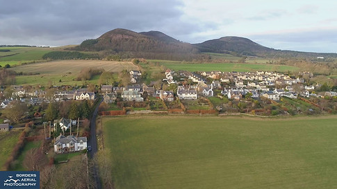 Bowden drone view, Scottish Borders