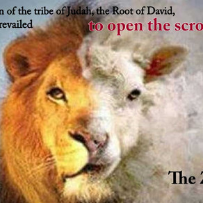 Day 8 The Zeroah—When the Lamb is a Lion--The Scroll is Opened