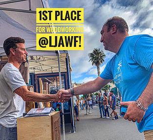 1st place ribbon at la jolla art and wine festival 2019