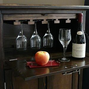 Rollaway Rustic Wine Cabinet