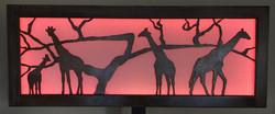 Giraffes at Sundown