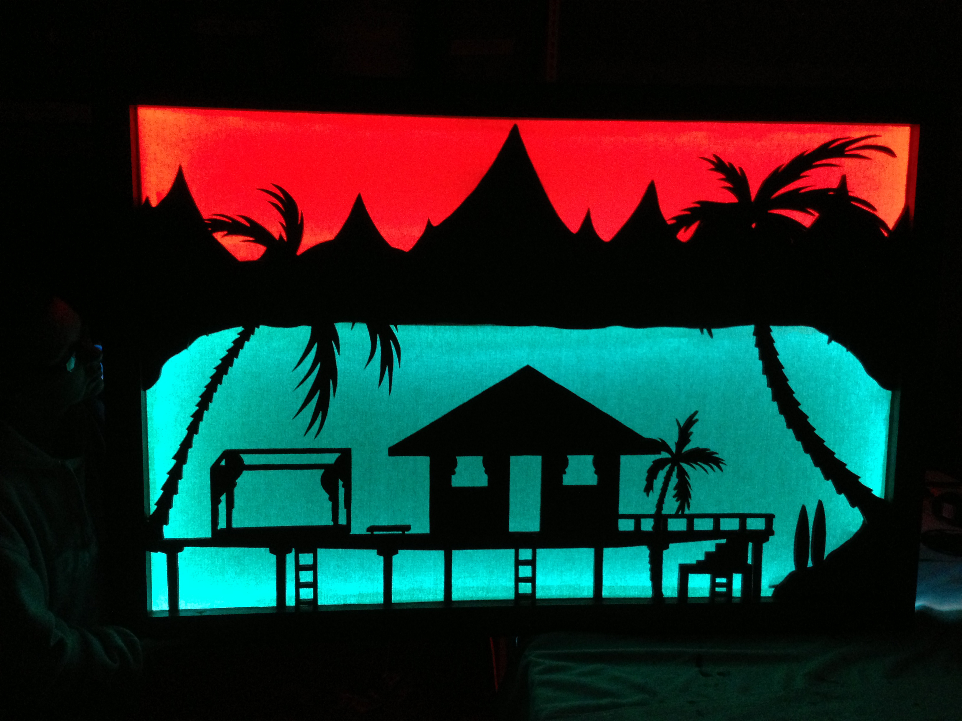 Bungalow silhouette.