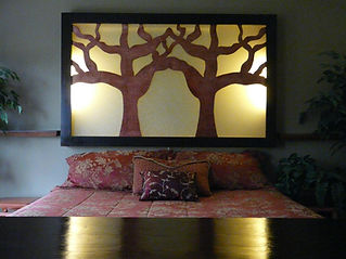 Tree Luminous Silhouette Headboard