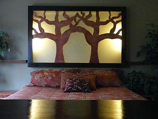 Tree Luminous Silhouette Headboard