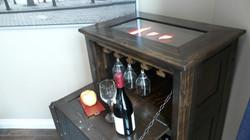Illuminated wine cabinet