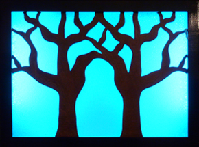 Small tree silhouette