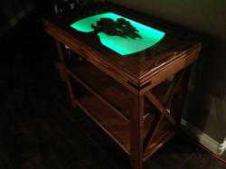 Luminous hall table
