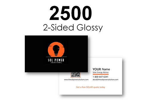 2500 Count Full Color Business Cards (2-Sided Gloss)