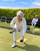 Live member Eve, aged 87, at the opening