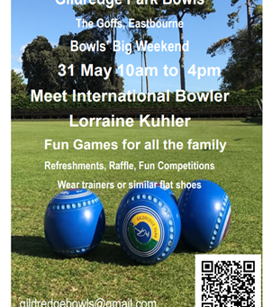 International star comes to Gildredge for the Bowls' Big Weekend
