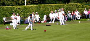 A match underway on the lower green during the club's finals' day