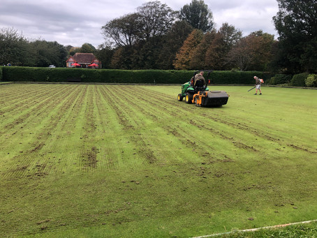 Treatment day for the greens