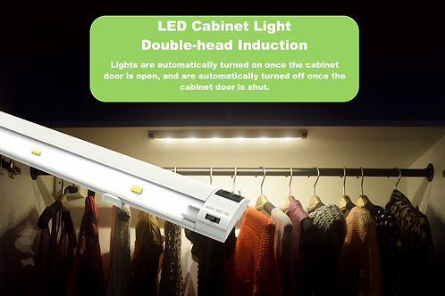 LED Cabinet Light Double-head Induction