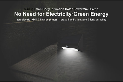 LED Human Body Induction Solar Power Wall Lamp