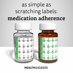 Scratching for medication adherence