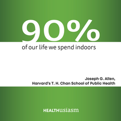 We live our lives indoors