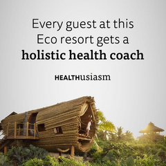 Personal health coaching at this resort