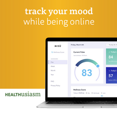 Mental health tracking while being online