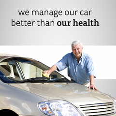 We manage our car better than our health