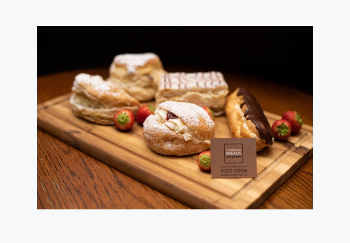 Luxury cream cake platter