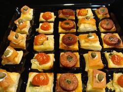 Pastry canapes