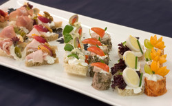 Savoury canapes